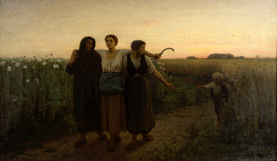 Le Retour des Champs, 1867 by Jules Breton (French, 1827 - 1906)