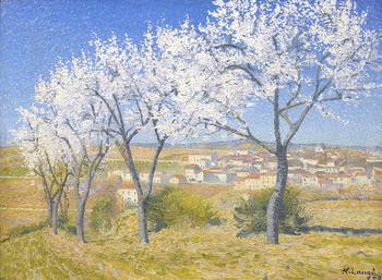 Flowering Almond Trees, Belvèze-du-Razès, 1909 by Achille Laugé (French, 1861 - 1944)