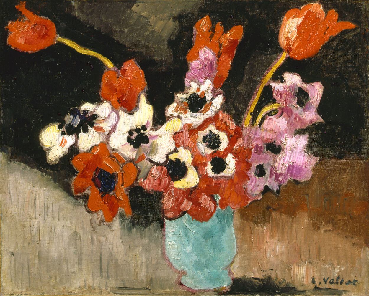 Schiller Amp Bodo Artists Louis Valtat French 1869 1952 Artworks Blue Vase Anemones