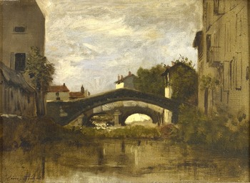 Lavandières sous les ponts by Léon Richet (French, 1847 - 1907)