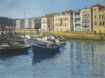 Saint Jean de Luz, port by Georges Masson (French, 1875 - 1949)