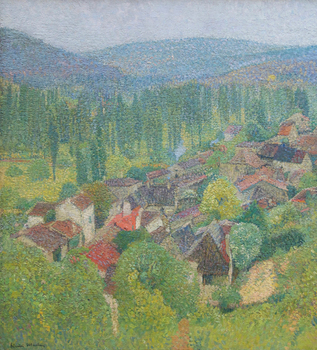 View of the rooftops of Labastide-du-Vert in summer, c. 1930 by Henri Martin (French, 1860 - 1943)