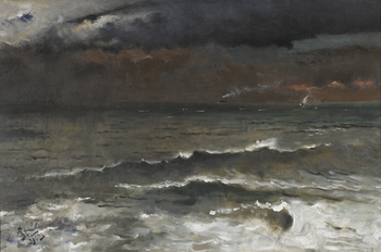 La Vague, 1893 by Alfred Stevens (Belgian, 1823 - 1906)