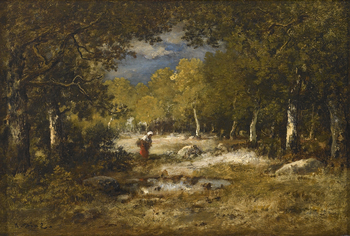 Wood Gatherer (Fagotière) by Narcisse Virgile Diaz de la Pena (French, 1807 - 1876)
