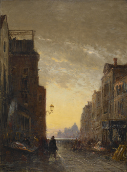 Market Place, Venice by Félix Ziem (French, 1821 - 1911)