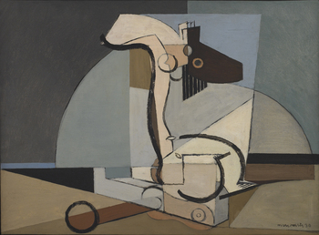 Figure et Ancre Marine, 1930 by Louis Marcoussis (French, 1883 - 1941)