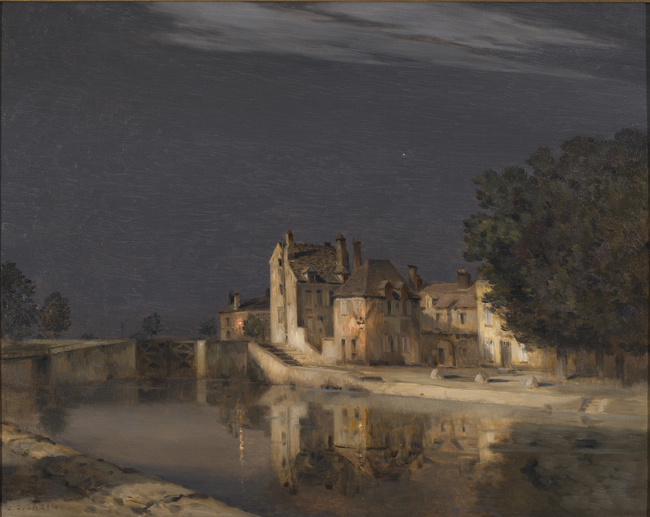 Moonlit Canal by Jean-Charles Cazin (French, 1841 - 1901)