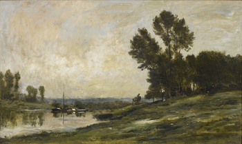 Bord de Riviere by Charles François Daubigny (French, 1817 - 1878)