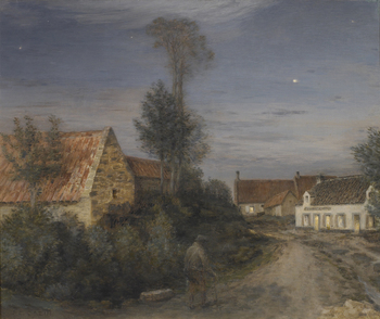 Village Road, Twilight by Jean-Charles Cazin (French, 1841 - 1901)