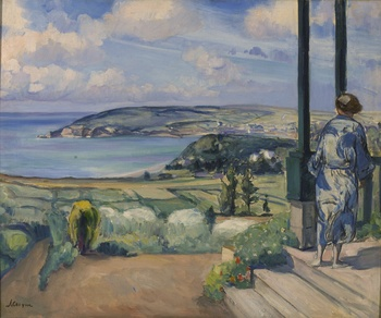 Sur la Terrasse à Morgat, c. 1924 by Henri Lebasque (French, 1865 - 1937)