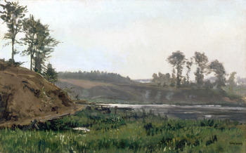 River Scene by Karl Pierre Daubigny (French, 1846 - 1886)