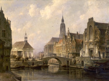 View of Groningen, 1898 by Cornelis Christiaan Dommelshuizen (Dutch, 1842 - 1928)