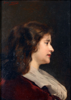 Portrait of a Woman by Jules-Adolphe Goupil (French, 1839 - 1883)