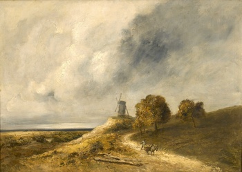 Moulin dans un Paysage by Georges Michel (French, 1763 - 1843)