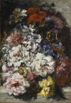 Bouquet de fleurs by Narcisse Virgile Diaz de la Pena (French, 1807 - 1876)